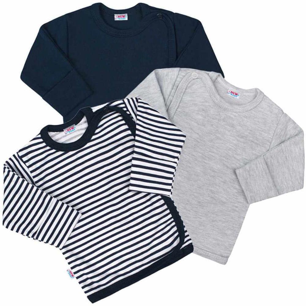 NEW BABY Kojenecká košilka New Baby Classic II Kluk 3ks - 56 (0-3m)