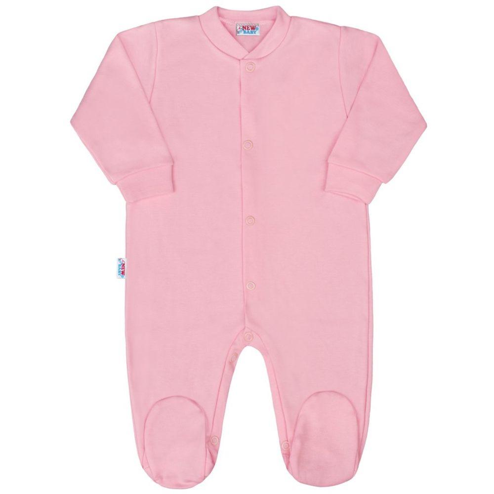 NEW BABY Kojenecký overal New Baby Classic II růžový - 56 (0-3m)