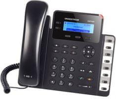 Grandstream GXP-1628 - IP telefon, LCD, 2x SIP účty, 2 linky, 2x RJ45 Gb, POE, HD audio, podsvíc. LCD, 8x BLF