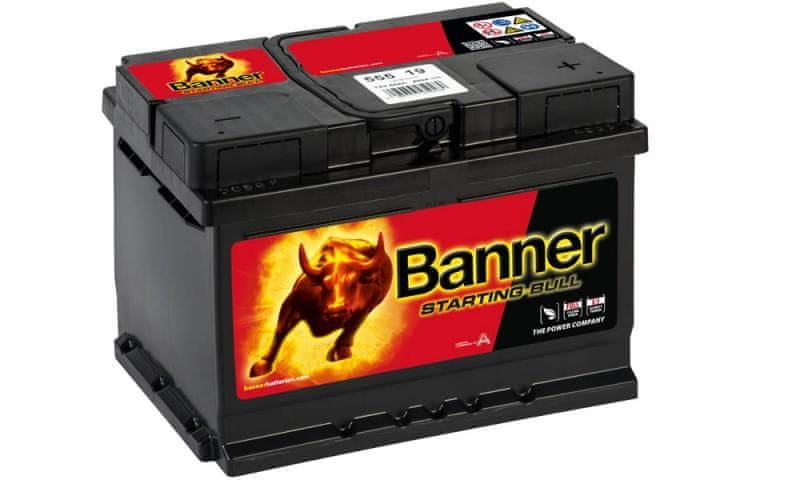 Banner Banner Starting Bull 12V 55Ah 450A 555 19