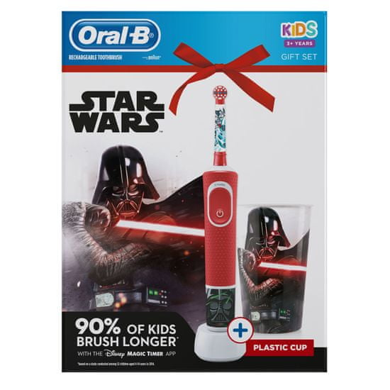 Oral-B otroška električna zobna ščetka Vitality Star Wars + lonček