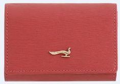 ženska denarnica za kartice Sahara, usnjena, rdeča