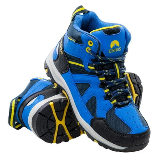 ELBRUS otroška treking obutev Plaret Mid WP JR navy/lake blue/yellow