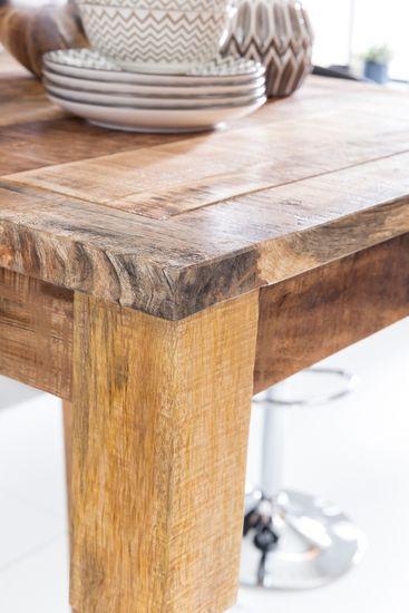 Bruxxi Barový stôl Rustica, 80 cm, mangové drevo