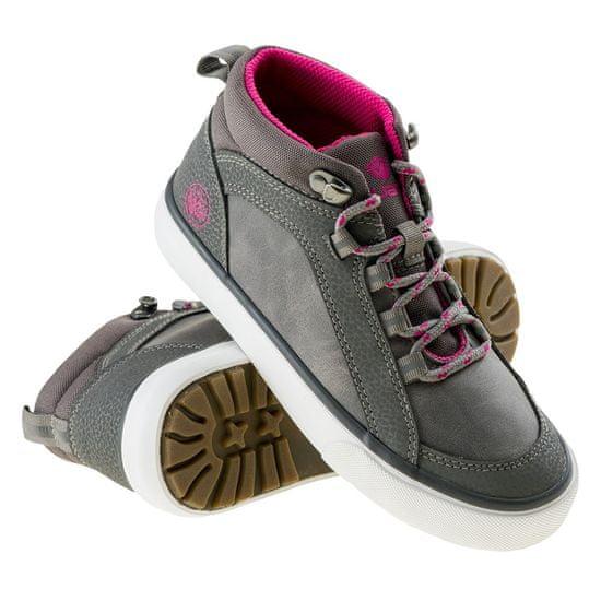 Iguana Dovi Mid Jrg dekliški čevlji, grey/fuchsia