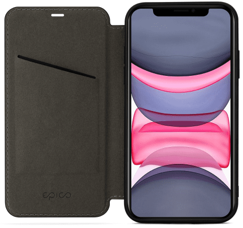 EPICO Flip Case with Magnetic Closure iPhone 11 42411131300001, fekete