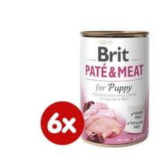 Brit Pástétom & Meat Puppy 6 x 400 g