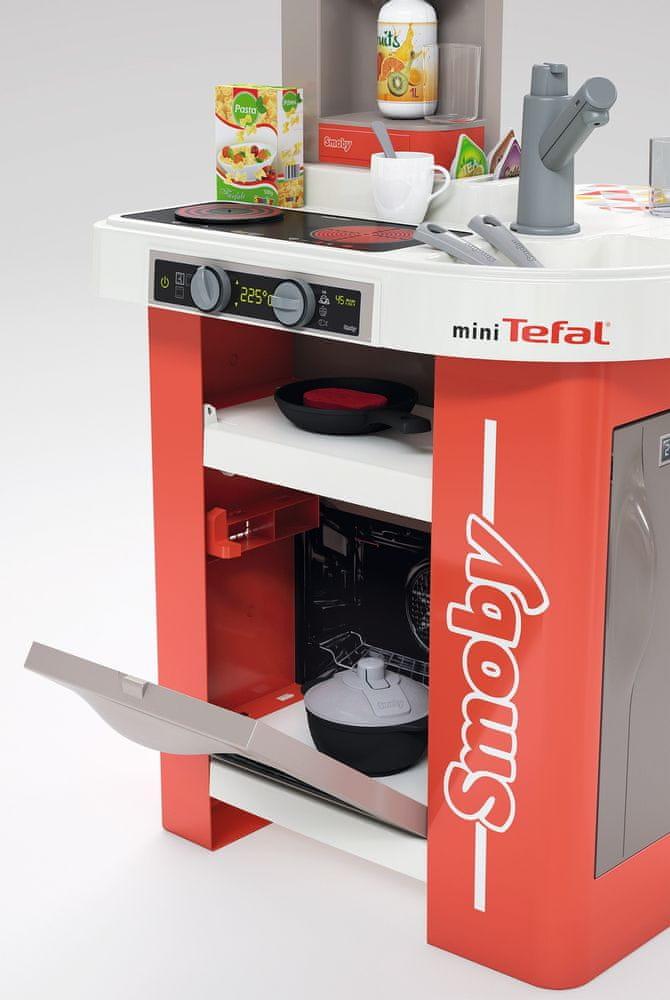 Smoby Kuchyňka Tefal Studio červeno-bílá elektronická