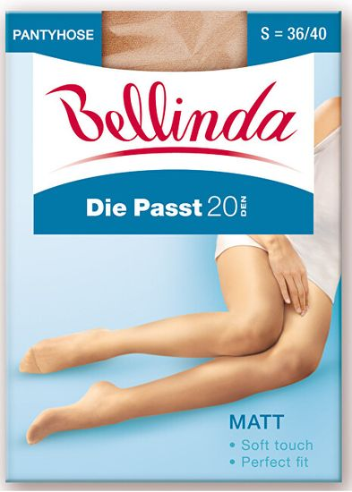 Bellinda 3 PACK - hlačne nogavice Die Passt 20 DEN Almond BE290001 -116