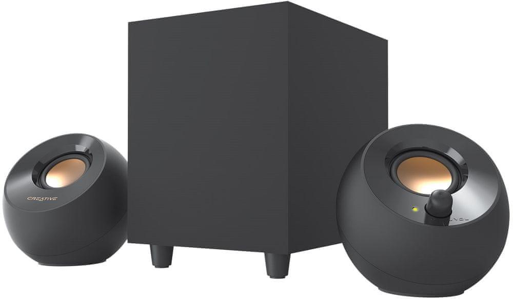 Creative Pebble Plus 2.1 přenosný reproduktor, černá