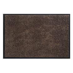FLOMA Tmavě hnědá vnitřní vstupní čistící pratelná rohož Watergate - 40 x 60 cm