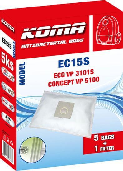 KOMA EC15S - Sada 25 ks vreciek do vysávača ECG VP 3101S