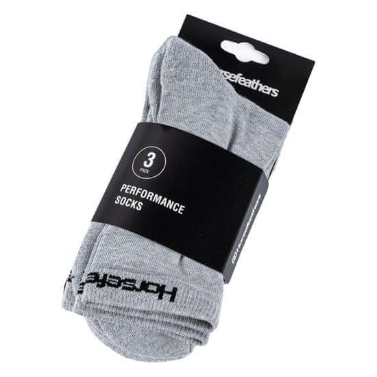 Horsefeathers 3PACK ponožky sivé (AA547D)