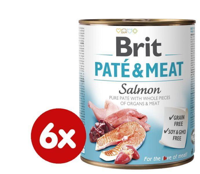 Brit Paté & Meat Salmon 6x800g
