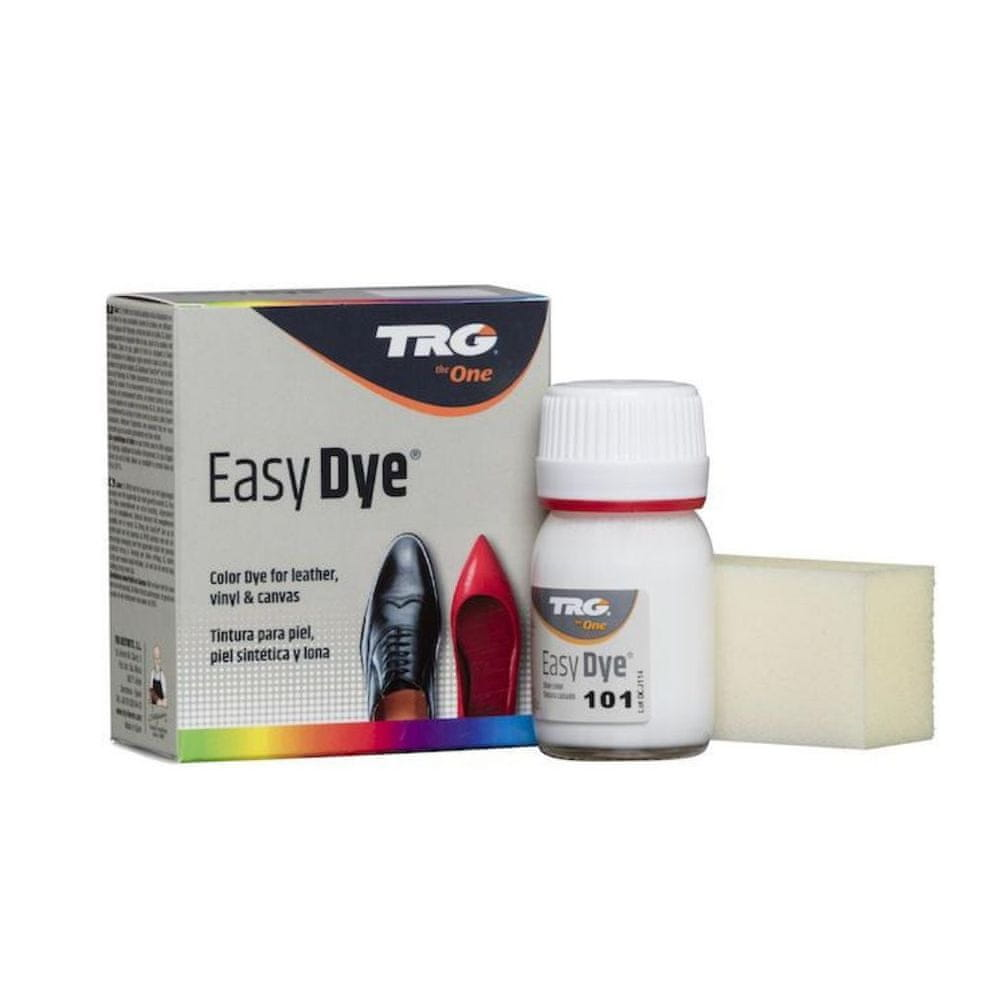 TRG One Barva na kůži, koženku a obuvnické plátno EasyDye - Bílá 101 White