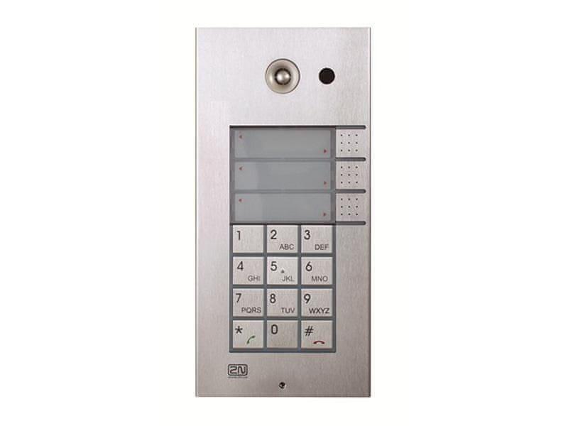 2N 9137131CKU, Helios IP Vario, 3x1 tlačítko + kamera + klávesnice