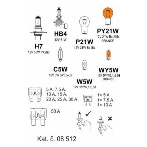 Compass Žárovky box ŠKODA ROOMSTER H7 + OCT2/FAB2