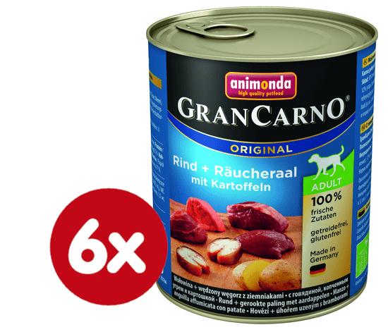 Animonda Grancarmo Adult -uzený úhoř+brambory 6 x 800g