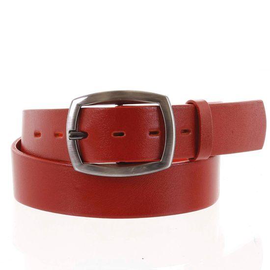 Penny Belts Dámsky kožený opasok Anastázia červený veľ.90