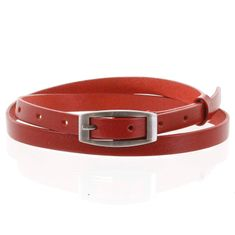 Penny Belts Jemný dámsky kožený opasok Markéta červený veľ.100
