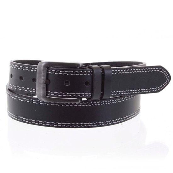 Penny Belts Pánsky kožený opasok CHRISTOPHE veľ.95, čierny