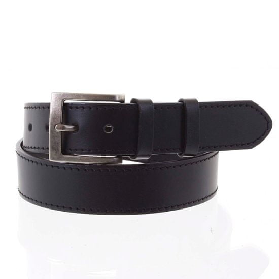 Penny Belts Čierny kožený opasok Penny Belts OLIVIER veľ.105, čierny