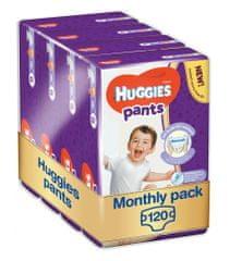 Huggies Pants Jumbo 6 (15-25 kg) 120 db - Egy havi csomagolás (4x30 db)