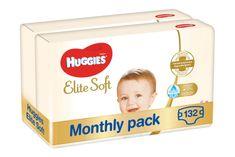 Huggies Elite Soft 4 plenice (8-14 kg) 132 kosov (2x66 kosov) - Mesečno pakiranje