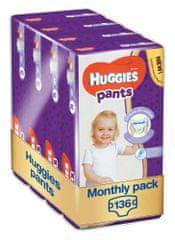 Huggies Pants 5 Jumbo (12-17 kg) 136 db (4x34 ks) - Egy havi csomagolás