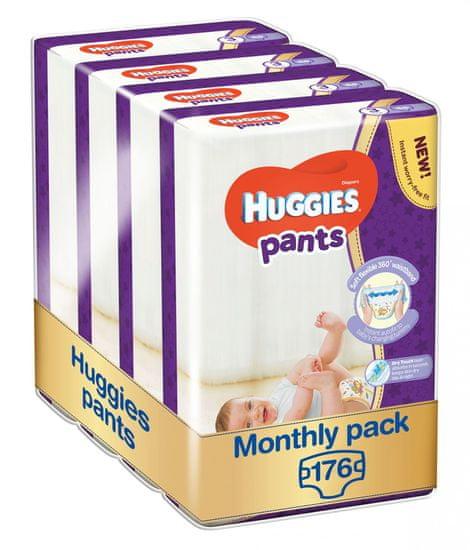 Huggies Pants 3 (6-11 kg) Jumbo 176 ks (4x44 ks) - Měsíční balení
