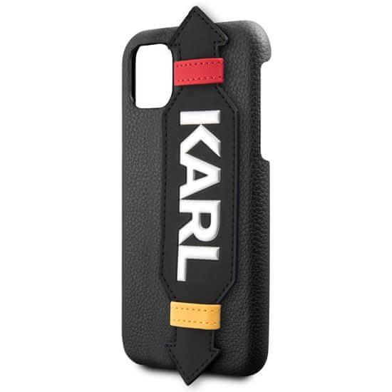 Karl Lagerfeld Strap Kryt pro iPhone 11 Pro Black (EU Blister) (KLHCN58HDAWBK)