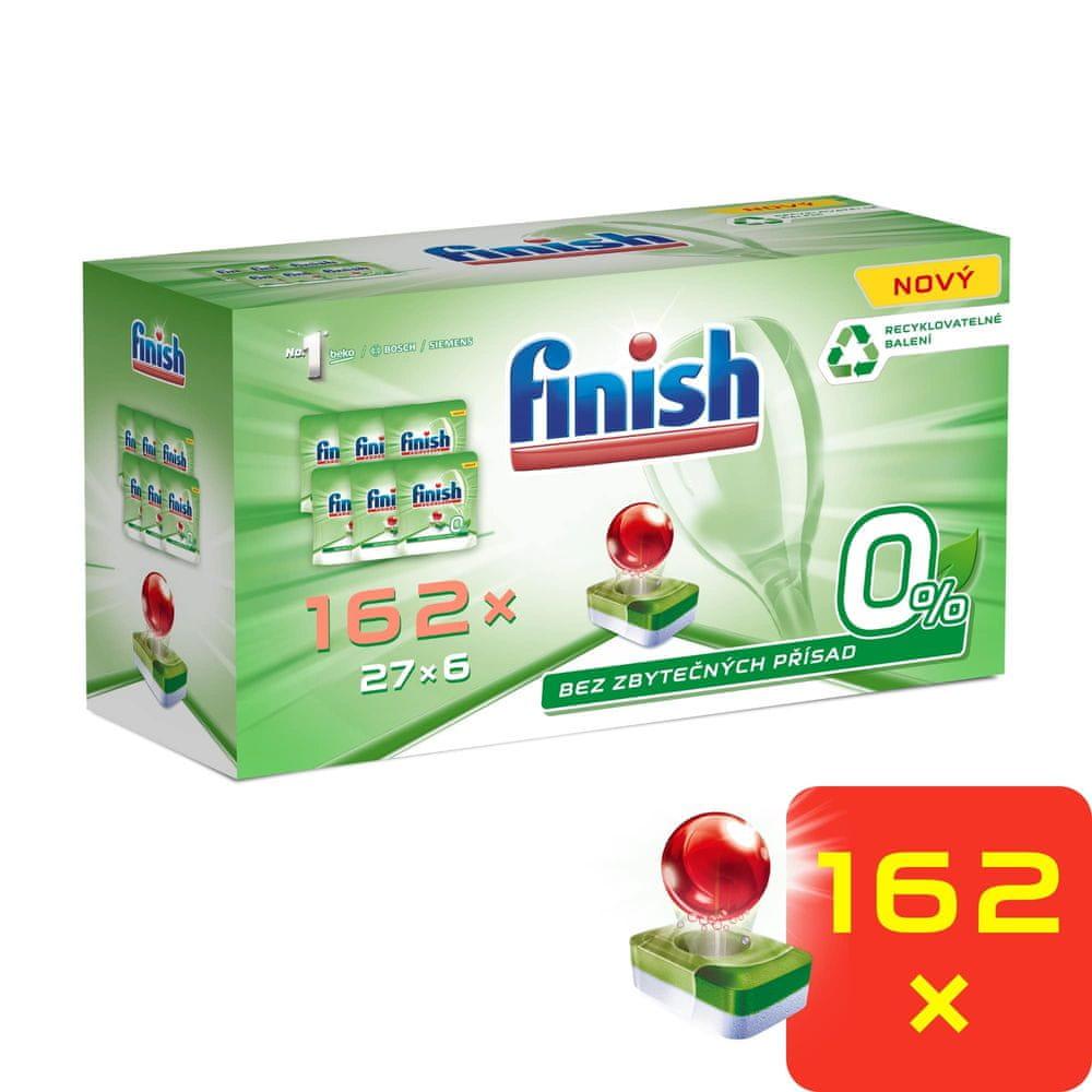 Finish 0 % tablety do myčky nádobí 162 ks GIGAPACK