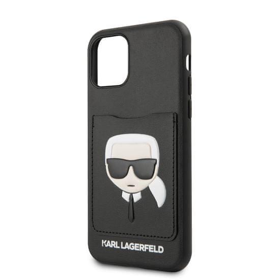 Karl Lagerfeld CardSlot Kryt pro iPhone 11 Black (EU Blister) (KLHCN61CSKCBK)