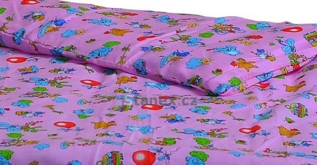 Stanex Dětské ložní povlečení bavlněné balónky růžové (LS309) Dětské ložní povlečení 135x90 + 45x65
