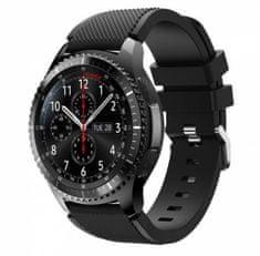eses Silikónový remienok pre Samsung Galaxy Watch 46 mm/Gear S3 čierný (1530000382)