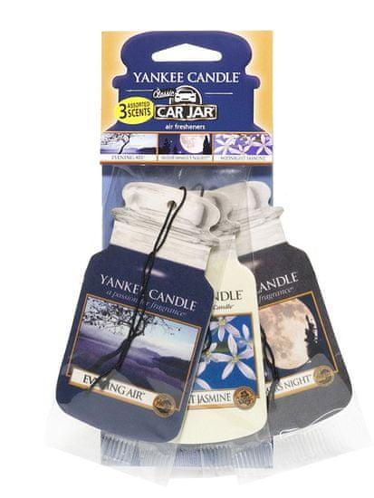Yankee Candle papírová visačka do auta Evening Stroll 3 ks
