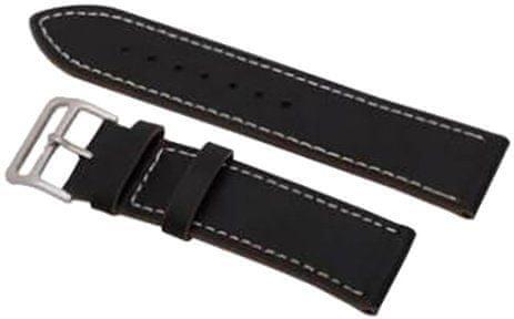 eses Kožený řemínek pro Samsung Galaxy Watch 46mm / Gear S3, černý (1530000380)