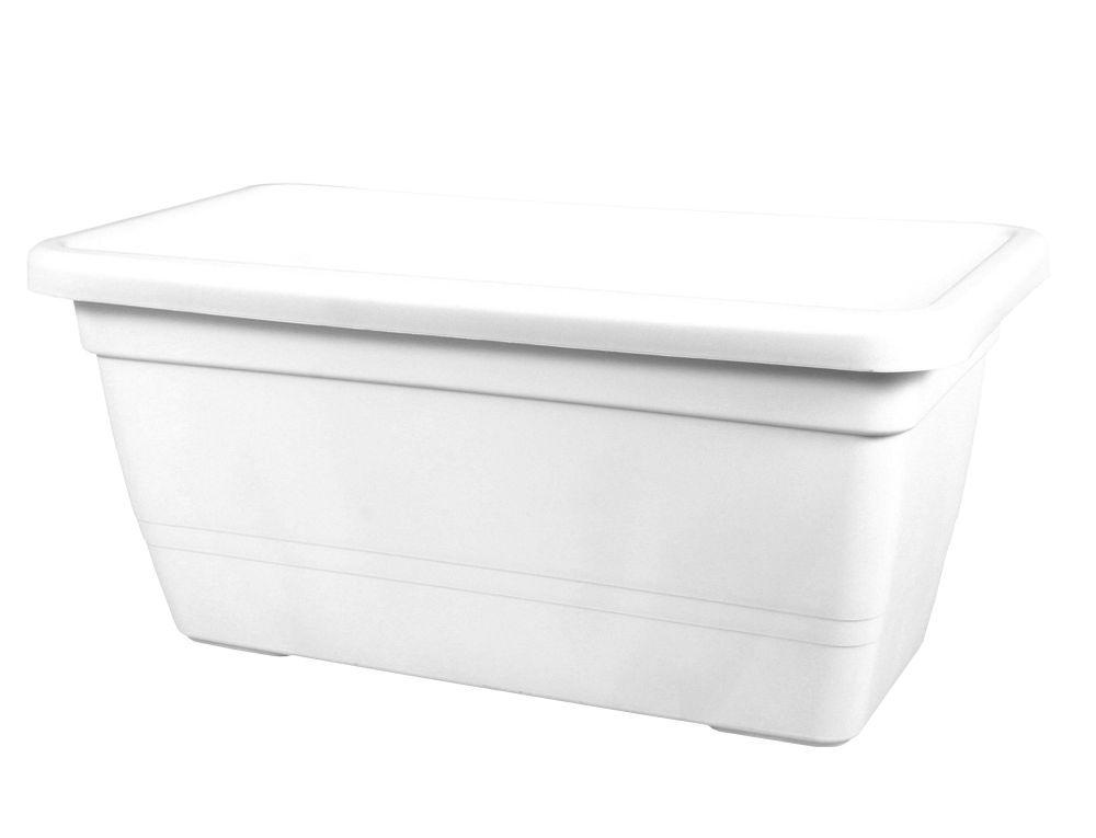 VECA Truhlík ANTHEA plastový bílý 60 x 32 x 28 cm