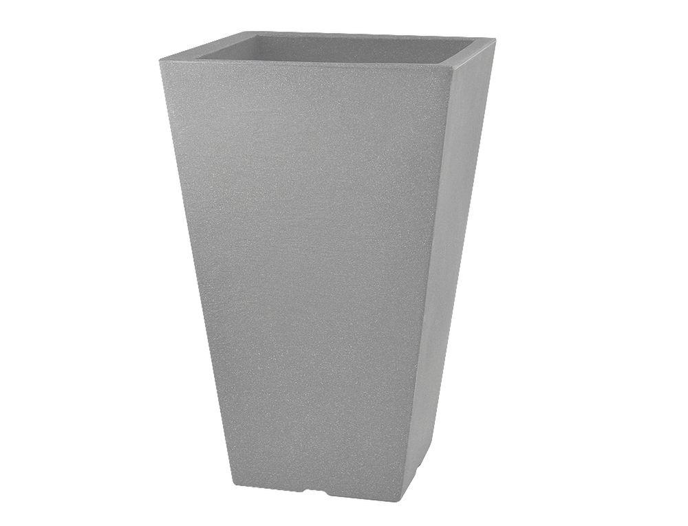 Obal na květník CAPRI plastový tmavě šedý 35 x 35 x 55 cm