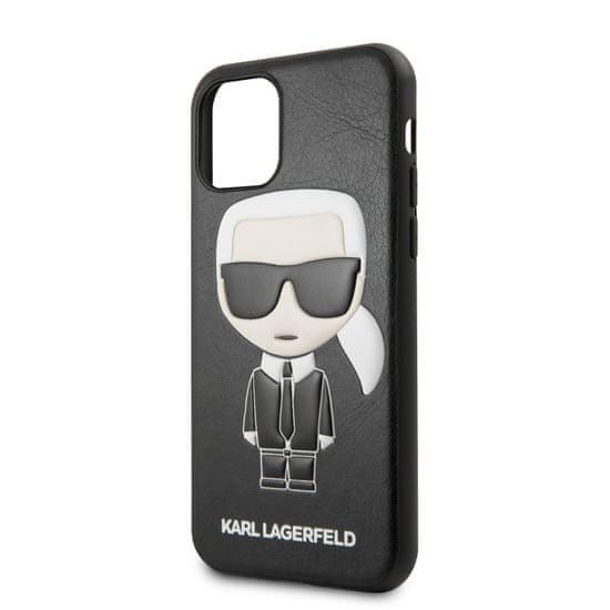 Karl Lagerfeld Embossed Kryt pro iPhone 11 Black (EU Blister) (KLHCN61IKPUBK)