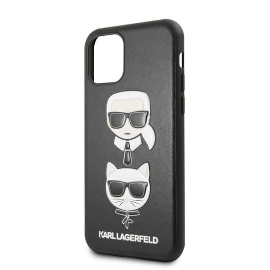Karl Lagerfeld &Choupette Kryt pro iPhone 11 Black (EU Blister) (KLHCN61KICKC)