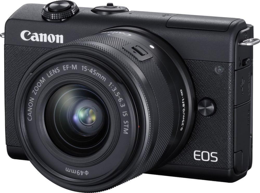 Canon EOS M200 + 15-45 IS STM, černý (3699C010)