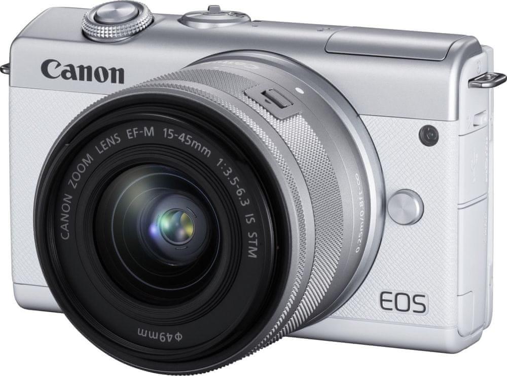 Canon EOS M200 + 15-45 IS STM, bílý (3700C010)