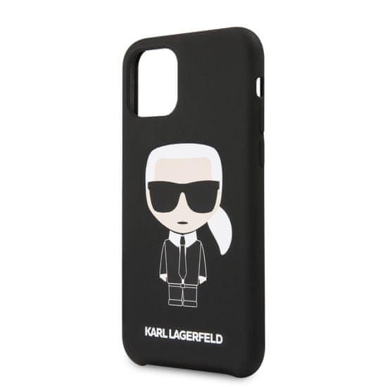 Karl Lagerfeld Silikonový Kryt pro iPhone 11 Black (EU Blister) (KLHCN61SLFKBK)