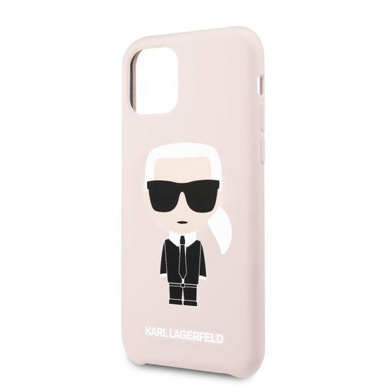 Karl Lagerfeld Silikonový Kryt pro iPhone 11 Pink (EU Blister) (KLHCN61SLFKPI)