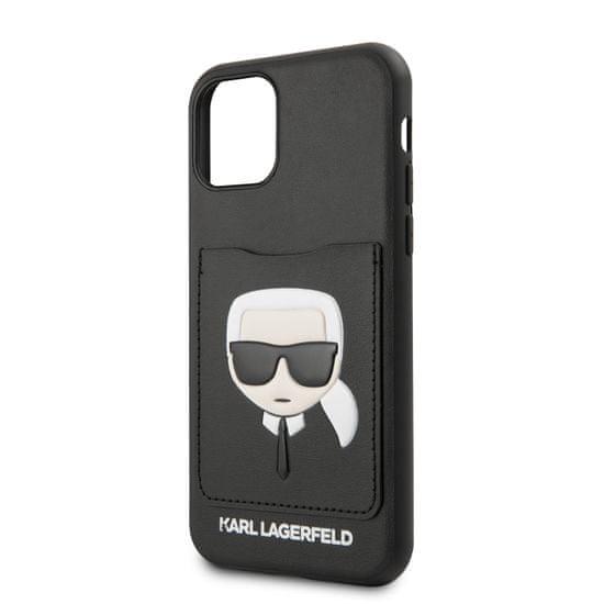 Karl Lagerfeld CardSlot Kryt pro iPhone 11 Pro Max Black (EU Blister) (KLHCN65CSKCBK)