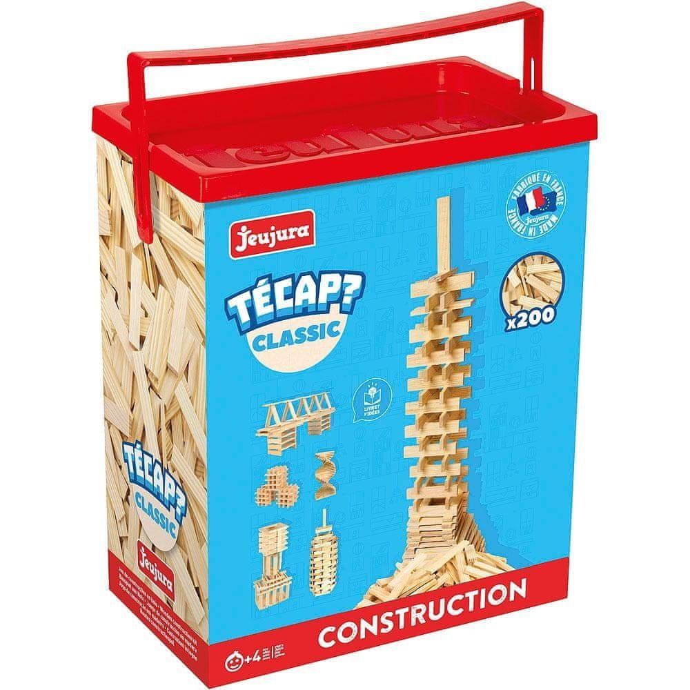 Jeujura Dřevěná stavebnice TECAP 200 dílků