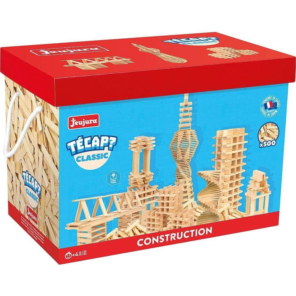 Jeujura Dřevěná stavebnice TECAP classic 500 dílků