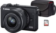 Canon EOS M200 + 15-45 EF-M IS STM Value Up Kit Black (3699C040)