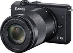 Canon EOS M200 + 15-45 EF-M IS STM + 55-200 EF-M IS STM Black (3699C018)